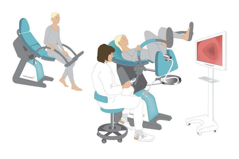Invendo Medical Colonoscopy Chair