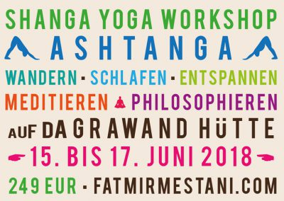 Yoga Workshop Advertising Postcard