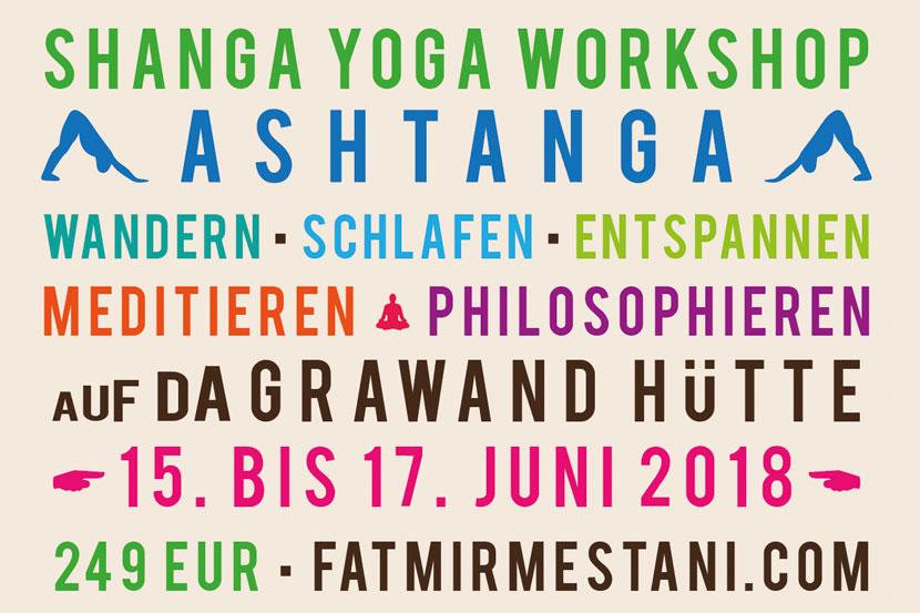 Yoga Workshop Advertising Postcard